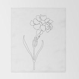 Carnation Lines Throw Blanket