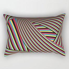 SWIRL w/black Rectangular Pillow