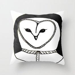 Mr Owl Throw Pillow