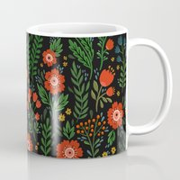 russian Mugs featuring Russian flowers by A.Vogler