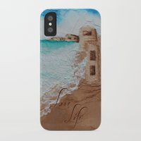 cuba iPhone & iPod Cases featuring Cuba Beach by Karelle Renaud