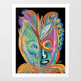 Rainbow Magic Man Graffiti Expressionist Art by Emmanuel Signorino Art Print