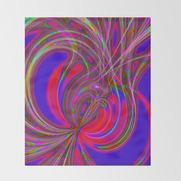 Alive 2 (neon) Throw Blanket