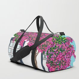 Little house in Portugal Duffle Bag