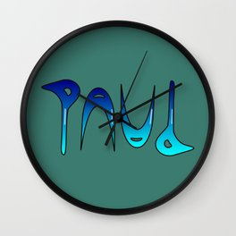 Paul (Ambigram) Namendreher Wall Clock