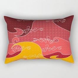Waves V red colors All Over Print Shirts V2 Rectangular Pillow