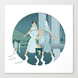 Dance at midnight Canvas Print
