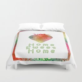 Home Sweetest Home -Typography Duvet Cover
