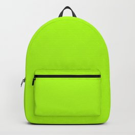 Solid Bright Green Yellow Neon Color Backpack