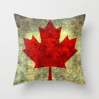 canada Throw Pillows featuring Oh Canada! by Bruce Stanfield