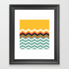 Retro Chevrons Framed Art Print