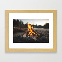 Campfires along the Coast Framed Art Print