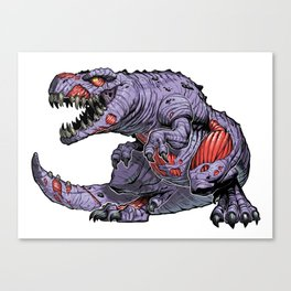 ZomBsaurus Rex purple Canvas Print