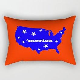 'Merica (Red, white, and blue) Rectangular Pillow