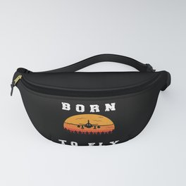 Born To Fly Fly Pilot Airplane Lover Fanny Pack
