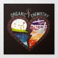 chemistry Canvas Prints featuring Organic Chemistry by Jaclyn Tan