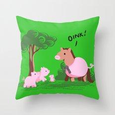 Pig? Throw Pillow
