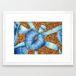 Blue Plant Framed Art Print