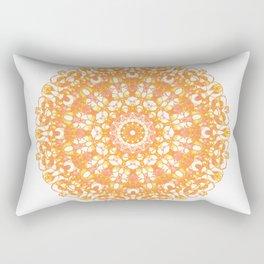 Mandala 12 / 1 eden spirit orange yellow pink Carnelian Rectangular Pillow