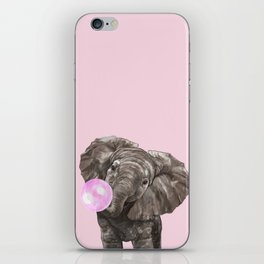 Baby Elephant Blowing Bubble Gum iPhone Skin