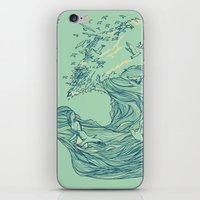 waves iPhone & iPod Skins featuring Ocean Breath by Huebucket