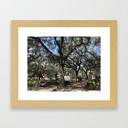 Tree Square Framed Art Print