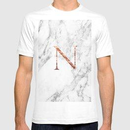 Monogram rose gold marble N T-shirt