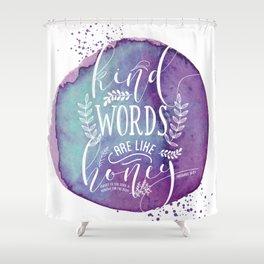 PROVERBS 16:24 Shower Curtain