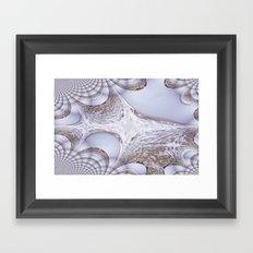 Angry Seas Fractal Framed Art Print