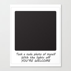 Nude Photo Canvas Print
