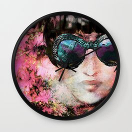 Pink by Lika Ramati Wall Clock