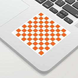 Cheerful Orange Checkerboard Sticker