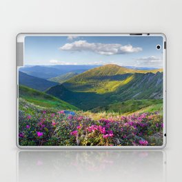 Floral Mountain Landscape Laptop & iPad Skin