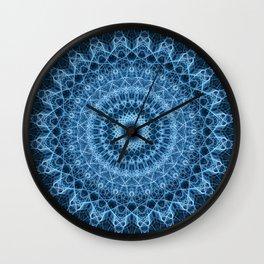 Detailed blue mandala Wall Clock