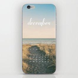 December 2017 Calendar iPhone Skin