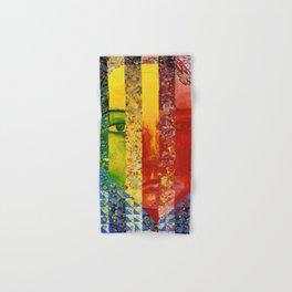 Conundrum I - Abstract Rainbow Goddess Hand & Bath Towel