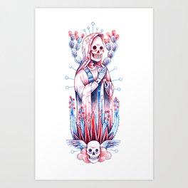 Catrina love earth Art Print