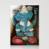 ganesh Stationery Cards featuring ganesh by Michael Anthony Alvarez