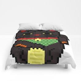 Black Lucky Cat Comforters