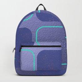 Modern,Retro,violet,purple,pattern Backpack