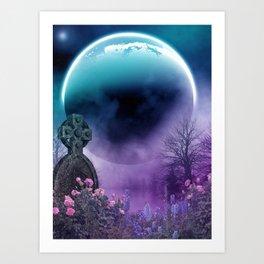Funeral Under Moonlight Art Print