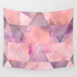 Blurred pink space geometrics Wall Tapestry
