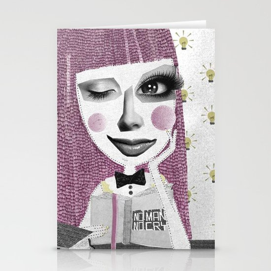 I think therefore I am... single Stationery Cards