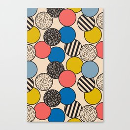 Memphis Inspired Pattern 5 Canvas Print