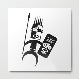African Warrior Metal Print