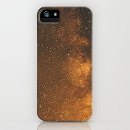 The Milky Way (Forest Landscape Photography, Starry Night Sky Photo) iPhone Case