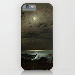 The Far Place Under Moonlight landscape painting by Magnus Munsterhjelm iPhone Case