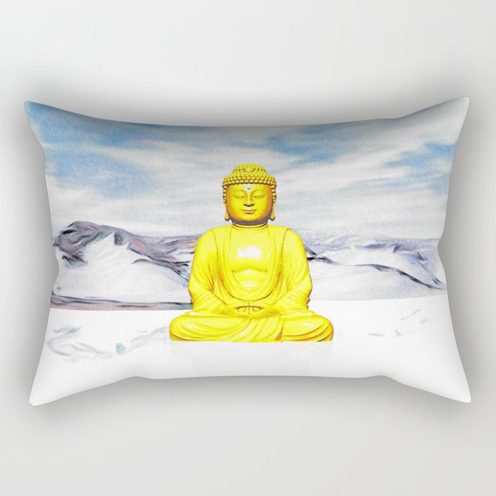 Serene Buddha Rectangular Pillow RPW8631691