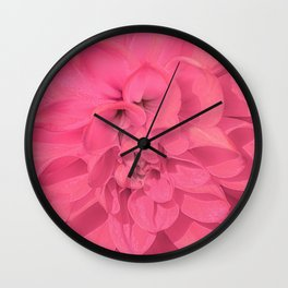 Beauty Pink Rose Detail Photo Wall Clock
