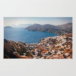 Leros Island Landscape Rug